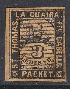 VENEZUELA  La Guiara ship local post - an old forgery  of this classic......D453