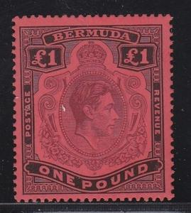 Bermuda Sc # 128a perf 14 XF-MLH nice color Scott cv $ 300 ! see pic !