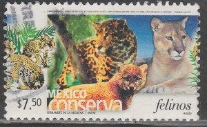 MEXICO CONSERVA 2400, $7.50P CATS. USED. VF. (1192)