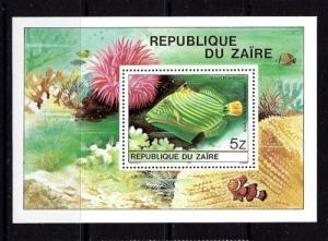 Zaire 981A NH 1980 Tropical Fish souvenir sheet