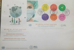 RM) 2020, UNITED NATIONS, NY,  WE ARE ALL IN THIS TOGETHER, HELP STOP SPREAD