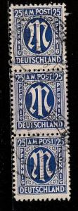 3N13 Germany A.M.G, Used strip of 3