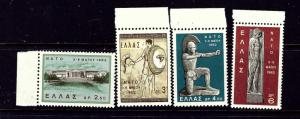 Greece 735-38 MNH 1962 set
