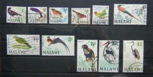 Malawi 1968 Bird values to £1 used