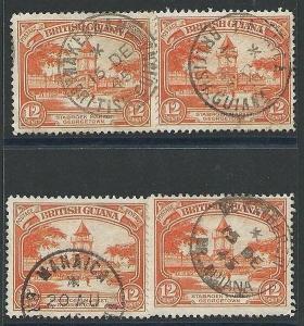 BR GUIANA 1940s pmks of MAHAICA (2) WAKENHAM, DE KINDEREN, ................43563