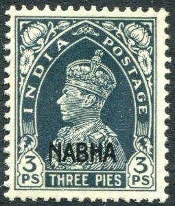 NABHA-1941-45 3p Slate Sg 95 MOUNTED MINT V30991