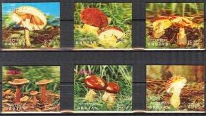 Bhutan 1973 Mushrooms 3D set of 6 MNH