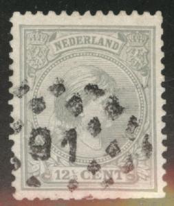 Netherlands Scott 44a used gray 1894 issue CV$1.75