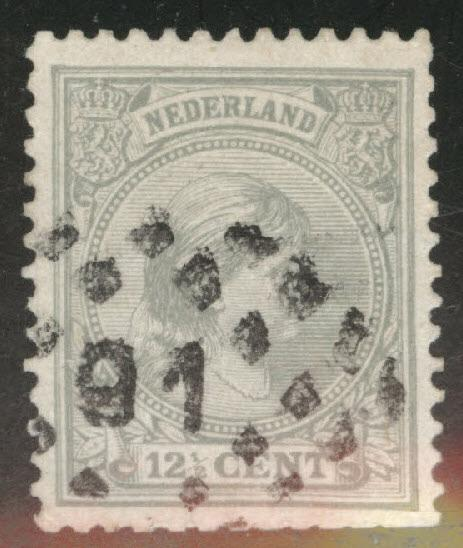 Netherlands Scott 44a used gray 1894 issue CV$1.75