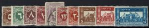 Egypt 10 Mint and Used 1925-1956 Stamps, Few Hinge Remnants - Lot 121216