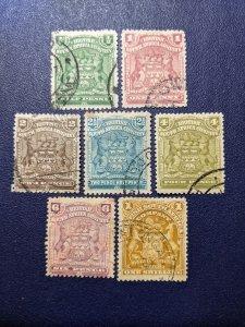 Rhodesia 59-62,64.66 F-VF, CV $12.70