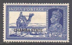 India Chamba State Scott 77 - SG89, 1938 George VI 3a6p MH*
