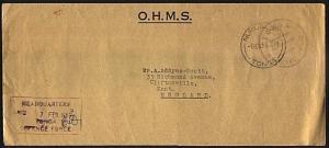 TONGA 1969 OHMS cover to UK ex Tonga Defence Force.........................93382