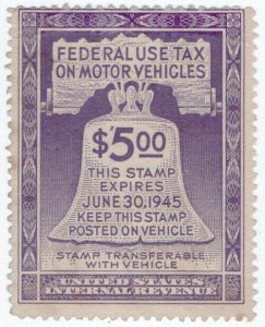 (I.B) US Revenue : Motor Vehicle Tax $5 (1945)