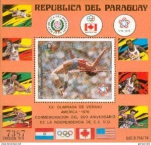 SW2898 - Paraguay - Gold Medal Winners of the 1976 Olympic Games  Minisheet MNH