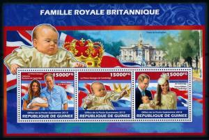 [76523] Guinea 2013 Royal Birth Prince George William & Kate Sheet MNH
