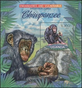 Uganda 2012 Sc 2012 Endangered Chimp CV $6