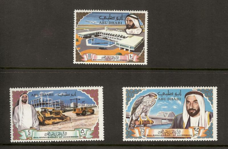 ABU DHABI SC# 49-51 F-VF MNH 1969