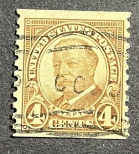 US 4c used Taft Coil S#687  1930 nice used stamp