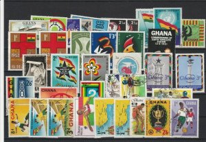 Ghana Stamps - including some Flags & Football subjects Ref 24960