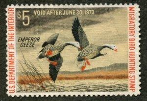 #RW39 unused no gum 1972 Duck stamp Emperor⭐⭐⭐⭐⭐⭐