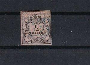german oldenburg 1852 type b or c stamp cat £350 + ref r10662