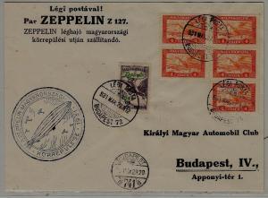 Hungary Zeppelin cover 27.3.31 Budapest