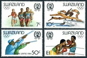 Swaziland 453-456,MNH.Michel 458-461. Olympics Los Angeles-1984.Running,Swimming