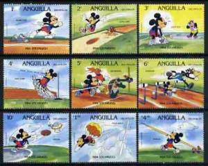 Anguilla 1984 Los Angeles Olympics set of 9 with Disney c...