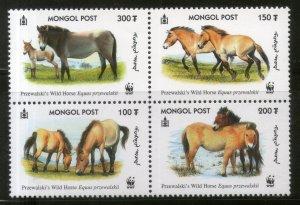Mongolia 2000 WWF Przewalski's Horse Wildlife Animal Fauna Sc 2440 MNH # 277