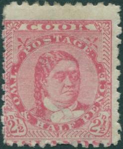 Cook Islands 1896 SG16 2½d pale rose Queen Makea Takau p11 MH