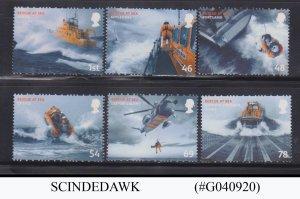 GREAT BRITAIN - 2008 RESCUE AT SEA 6V SET MNH