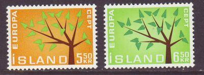 Iceland Sc 348-9 1962 Europa stamp set mint NH