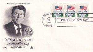 1981, Ronald Reagan, Inauguration Day Cover, Art Craft/PCS (E11327)