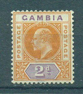 Gambia sc# 30 mh cat value $3.75