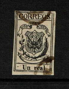 Dominican Republic SC# 9 Used Reprint? / Thick Wove Paper - S9154