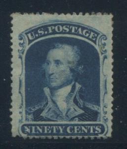 1860 United States Postage Stamp #39 Mint Hinged F/VF Original Gum Certified