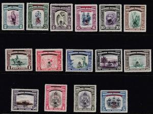 NORTH BORNEO   1947  S G  335 - 349    SET OF 15  MH CAT £95