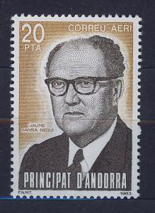 ANDORRA SPANISH 1983 MNH SC.C2 J.Sansa,diplomatic