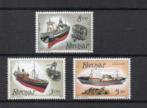 Faroe Islands 158-160 MNH