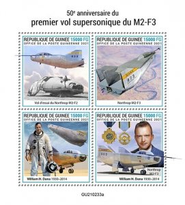 GUINEA - 2021 - Supersonic M2-F3 - Perf 4v Sheet - Mint Never Hinged