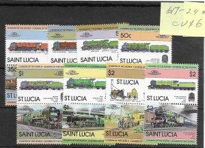 Saint Lucia #617-624 MNH - Stamp Set - CAT VALUE $6.70
