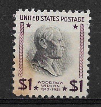 1938 Sc832 $1 Woodrow Wilson MNH