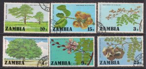 Zambia 1976 QE2 Set Foresty Day used SG 247 - 252 ( R292 )