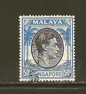 Singapore 17a King George VI Used