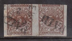 USA Confederate States #62X4 Used Scarce Pair