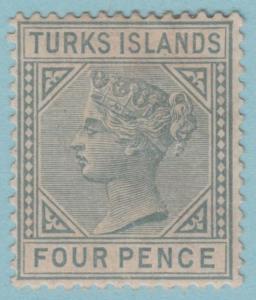 Turks & Caicos Inseln 50 Postfrisch mit Scharnier Og - keine Fehler Sehr Fein