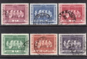 Belgian Congo Scott 300-305  complete set  F to VF used.