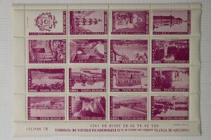Vendrell Spain Philatelic expo show 1951 vignette poster stamp sheet souvenir DM