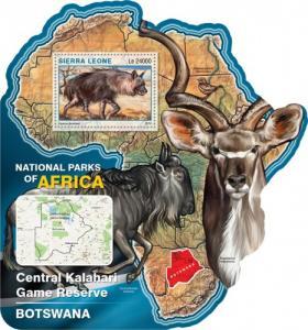 SIERRA LEONE 2016 SHEET NATIONAL RESERVE BOTSWANA WILDLIFE srl16504b